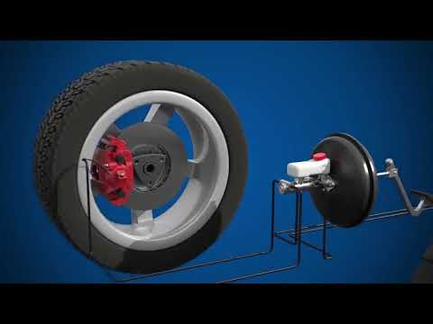 How Do Hydraulic Brakes In Cars And Light Vehicles Work 3D Animation