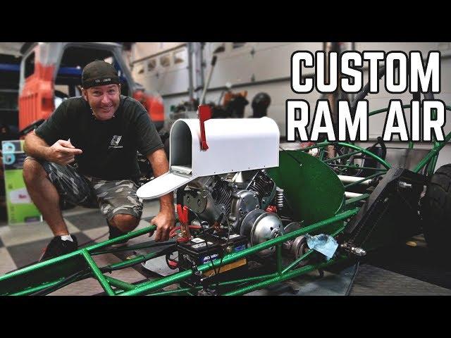 Ram Air Intake from a MAILBOX! 670 Drag Rail Build