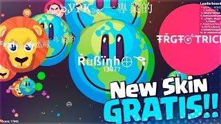 NUEVO SKIN GRATIS!!   Agar.io   +40000 PUNTOS   New Skin Earth Day   Rubinho vlc