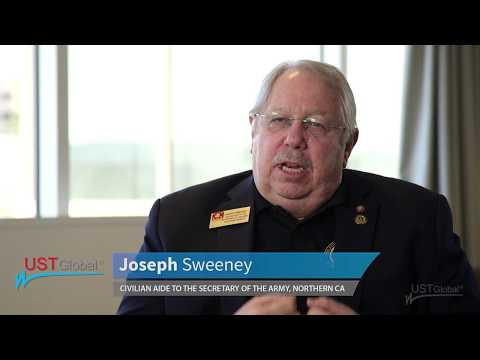Joseph Sweeney, Civilian Aide to the Secretary of the Army, NC, talks about UST Global