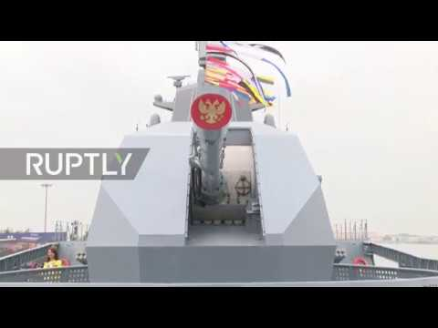 China: Russian frigate Admiral Gorshkov attends PLA navy's 70th anniversary celebrations in Qingdao
