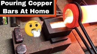 Melting and Pouring Copper Bars and Rounds From Scrap!