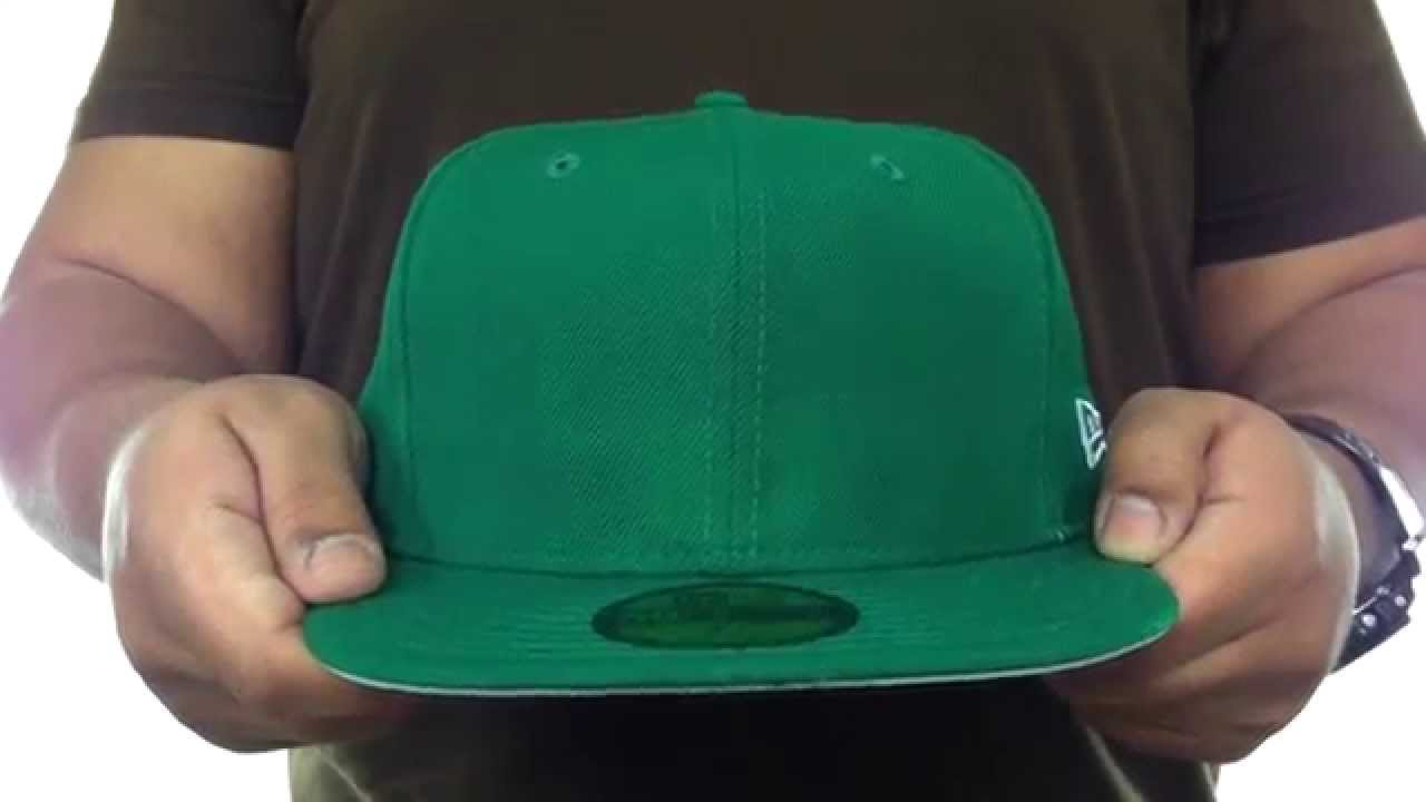 New Era  59FIFTY-BLANK  Solid Kelly Green Fitted Hat - YouTube 4c6ae203f07