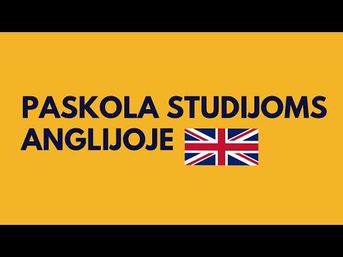 Paskola studijoms Anglijoje