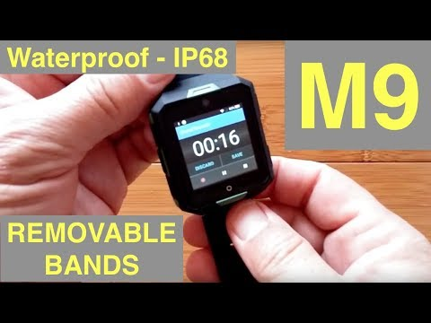M9 Square Android 6 IP68 Waterproof 4G Cell (regional) Smartwatch: Unboxing and 1st Look