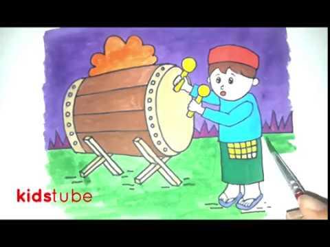 Menggambar Bedug Ramadhan Untuk Anak Youtube