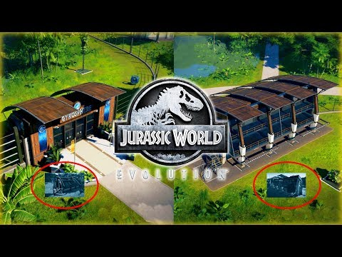 GYROSPHERE STATIONS, VIEWING GALLERIES & DAMAGED BUILDINGS! Jurassic World Evolution NEWS!
