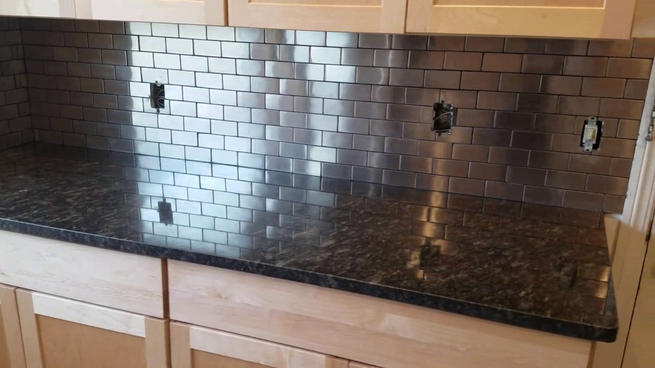 stainless steel backsplash from lowe 39 s youtube