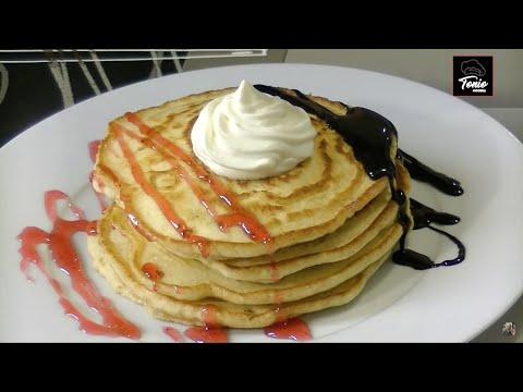 Pancakes, Tortitas caseras | Receta de postre sin horno