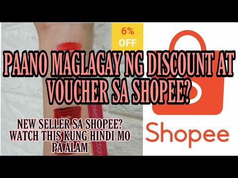 Paano maglagay o gumawa ng discount at voucher sa Shopee | Shopee tutorial | Rusbie MIXED VLOGS