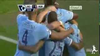 Manchester City 4 Vs 1 Manchester united (derby) 22/09/13highlight&goals