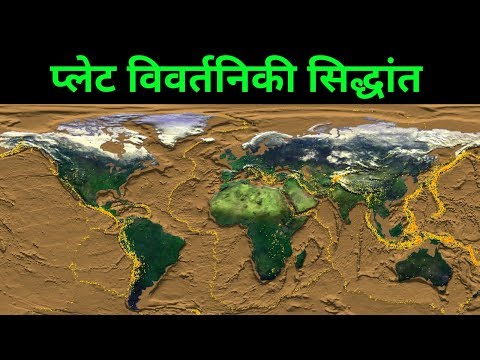 प्लेट विवर्तन/विवर्तनिक सिद्धांत या प्लेट विवर्तनिकी (Plate tectonic theory or plate tectonics)