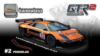 Gameplay #2 - GTR2 FIA GT Racing Game / Lamborghini Murcielago R-GT / Autódromo Penuelas