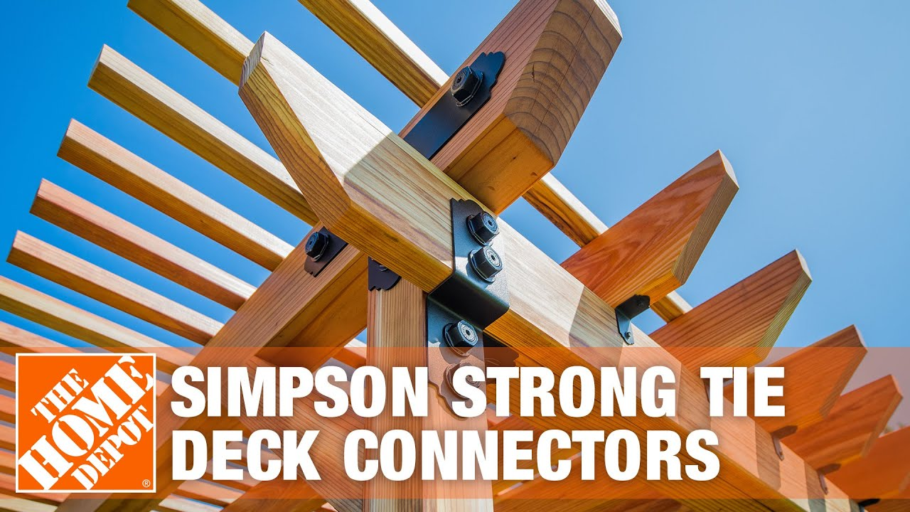 Simpson Strong Tie Deck Connectors The Home Depot Youtube