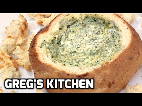 PULL APART SPINACH CHEESE DIP COB  - Greg's Kitchen