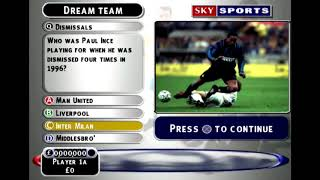 Sky Sports Football Quiz [PS1]: Licensed Video Games #161