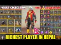 Best Ever Collection Richest Player In Nepal My Vault Free Fire