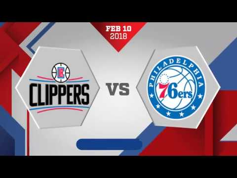 Los Angeles Clippers vs. Philadelphia 76ers - February 10, 2018