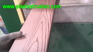 Wpc Deck Embossing Machine