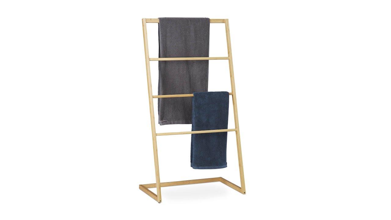 Handtuchhalter stehend aus Bambus
