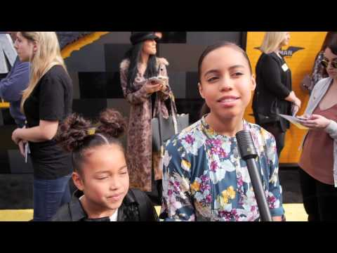 Asia Monet Ray Interview at The LEGO Batman Movie World Premiere
