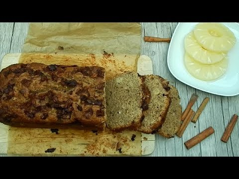 Bizcocho de piña y canela. Deliciosa receta