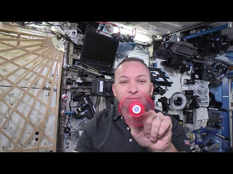 Fidget spinner spinning in space!