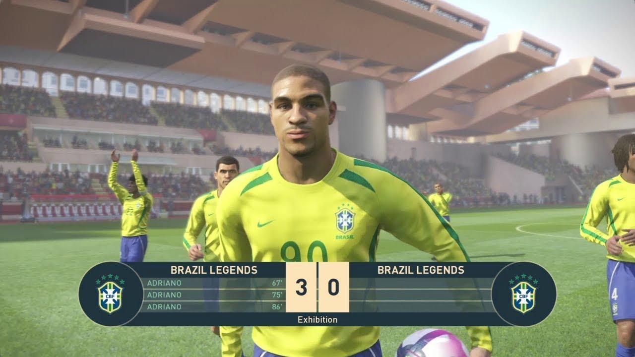 PES 2019 Brasil Brazil Legends Clássico Classic v2 Stats