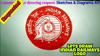 Lets Draw INDIAN RAILWAYS LOGO By Freehand Sketching || Sketches & Diagrams Art ||