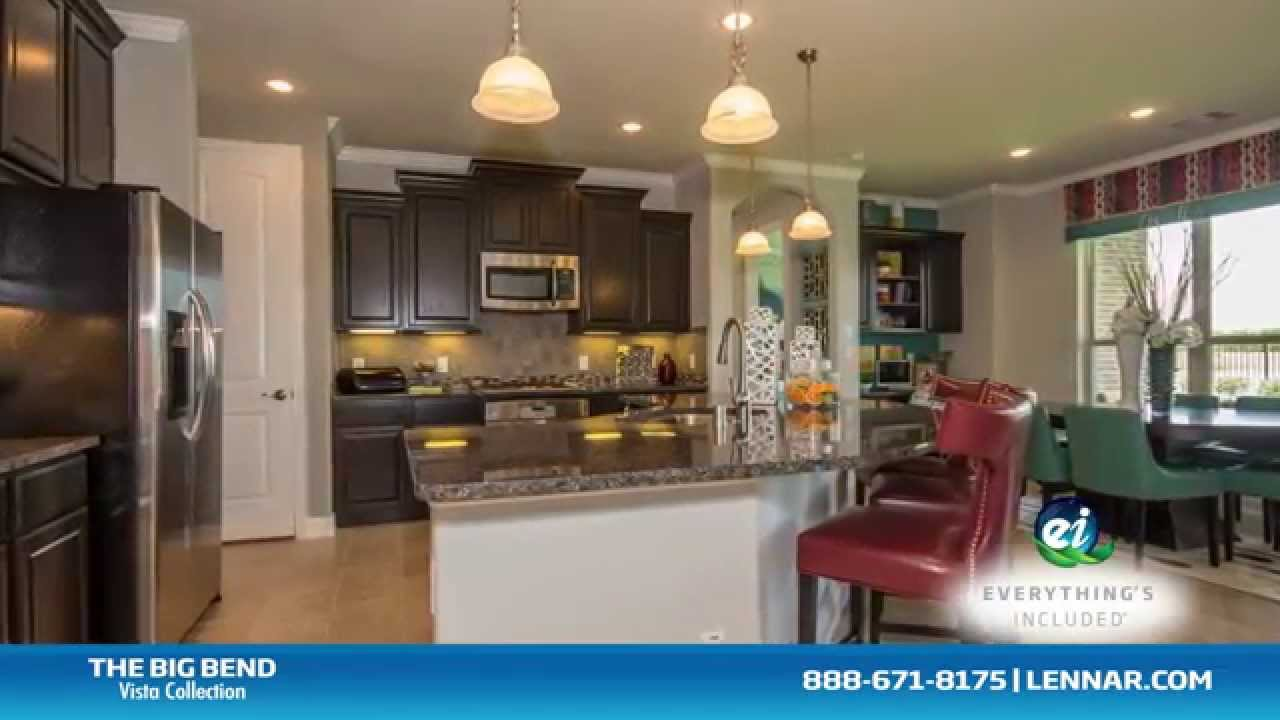 The Big Bend Model New Home Tour - Lennar Houston - YouTube