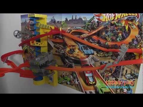 Hot Wheels Wall Tracks Power Tower Track Set From Mattel Youtube