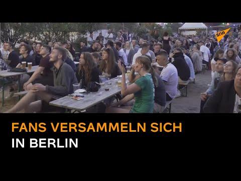 Fans versammeln sich in Berlin, um das Spiel Frankreich gegen Deutschland bei der Euro 2020 zu sehen