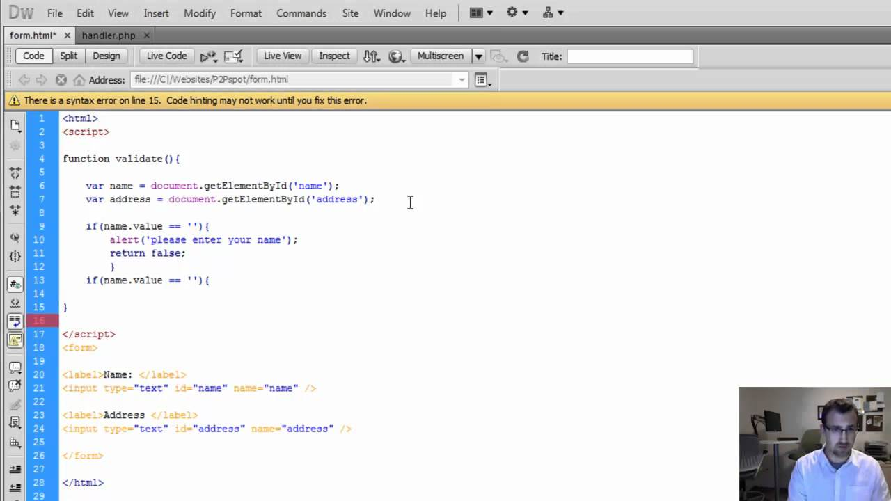 HTML Form and PHP Action Handler Tutorial - YouTube