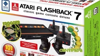 ATARI Flashback 7 Classic Gaming Console with 101 Games - Unboxing & Game Play