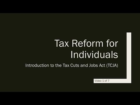 US Tax Reform and the Non-resident Business Owner - Video 1 of 7