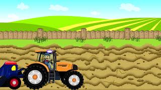 ☻ Combine-Harvester | Farmer - Farm Work | Kombajn Bajki Dla Dzieci ☻