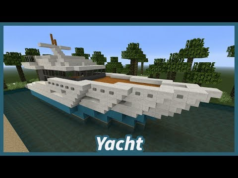 ✔ Minecraft Tutorial: How To Build A Yacht