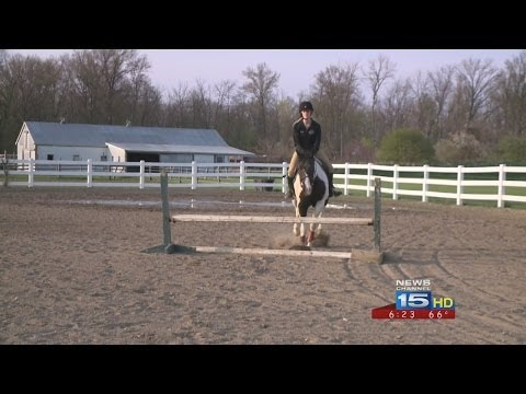 Orchard Creek Stables high school equestrian team named FWO Team of the Week on WANE-TV 5/6/14.