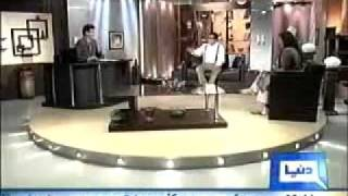 Azizi Sahab With Very Famous Funny & Comedy Tv Show Hasb e HaaL   17 July 2011   Part   1/3