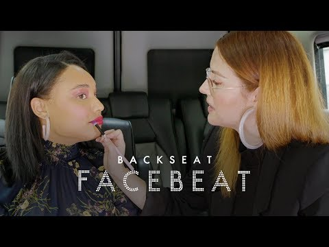 Katie Jane Hughes Talks Color, Ashley Graham, and Glossier on Back Seat Face Beat | ELLE