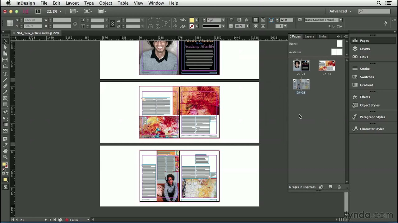InDesign CC tutorial: Inserting, deleting, and moving pages | lynda com