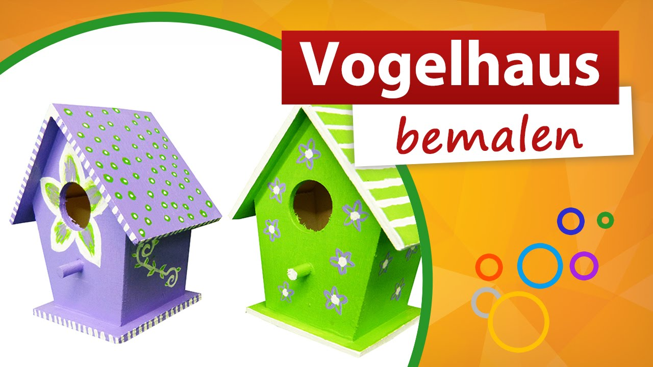 vogelhaus bemalen kindergeburtstag bastelidee trendmarkt24 youtube. Black Bedroom Furniture Sets. Home Design Ideas