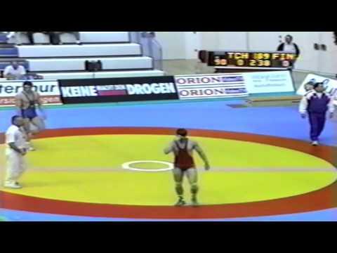 1991 Senior European Greco Championships: 90 kg Petr Stehel (TCH) vs. Finland