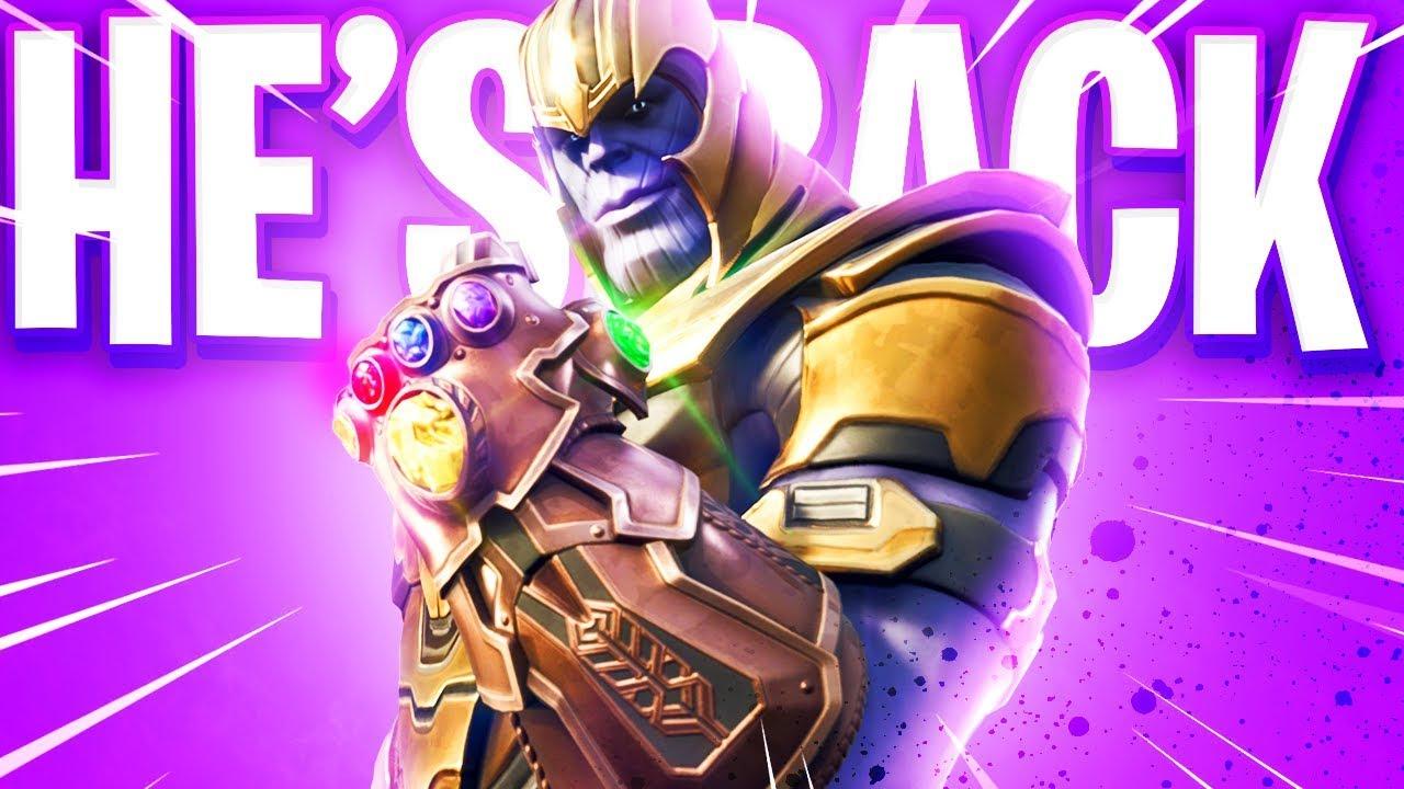 Thanos Fortnite Return Youtube