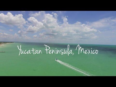 Yucatán Peninsula, Mexico by drone