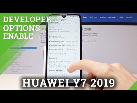 Enable Developer Options in HUAWEI Y7 2019 - OEM Unlock