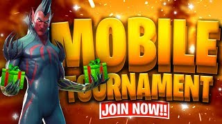 Fortnite Mobile Custom Tournament with PRIZE // Gifting Winners Free Skins // Fortnite Mobile Live