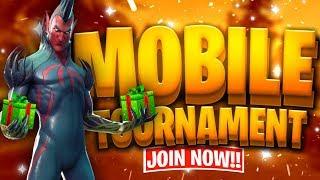 Fortnite Mobile Custom Tournament avec PRIZE // Gifting Winners Free Skins // Fortnite Mobile Live