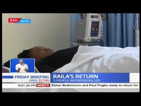 Chaos mark Raila Odinga's grand return as five people left dead