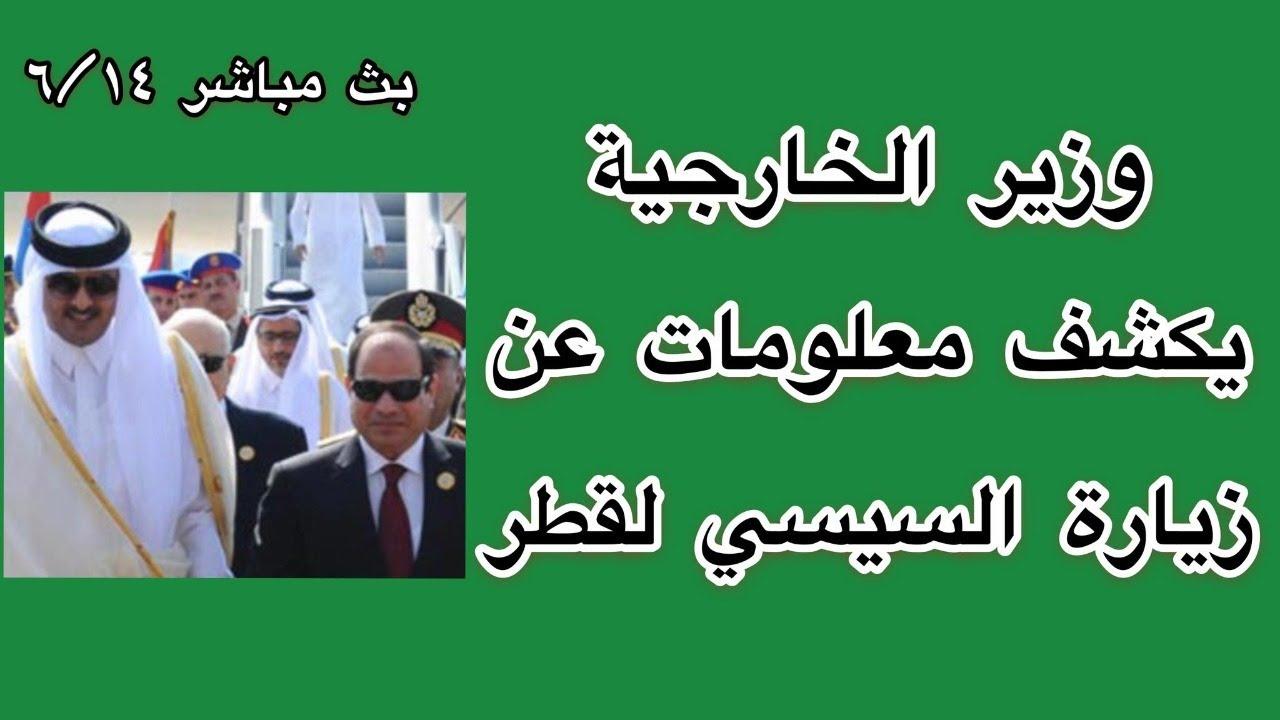 وزير الخارجية يكشف معلومات عن زيارة السيسي لقطر..14_6_2021